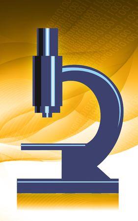 Illustration of a microscope in radiant blue light Stock Illustration - 5769820