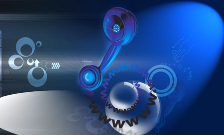 web portal: Illustration of a telephone receiver with website letters  Stock Photo