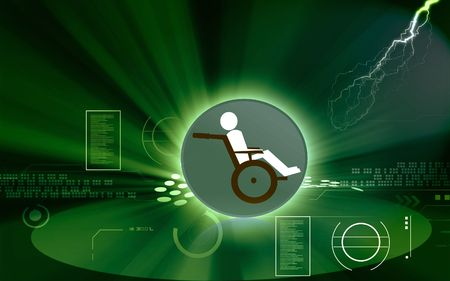 wheel chair: Illustration of a wheel chair and patient
