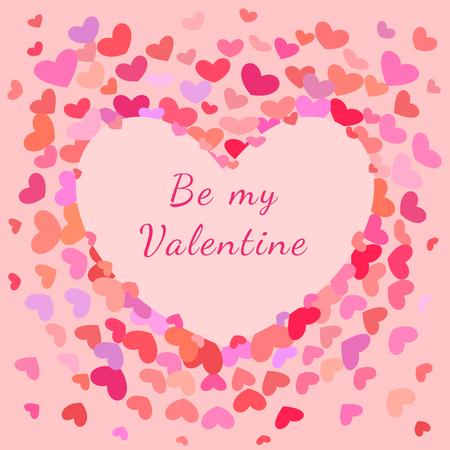 greeting card background: Saint Valentines Greeting Card, Banner and background  with Hearts