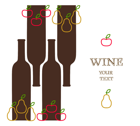advert: Wine bottels with apples and pears, sample advert banner