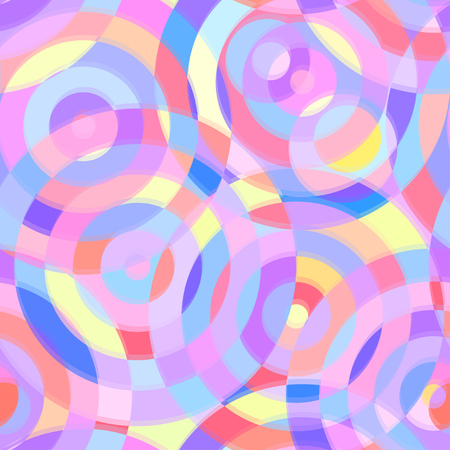 transparence: Seamless abstract pattern with circles Illustration