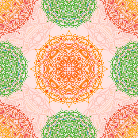 mandala: Mandala seamless pattern, Eastern ornament Illustration