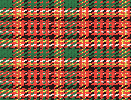 checked: Seamless checked material pattern, tartan and plaid fabric background
