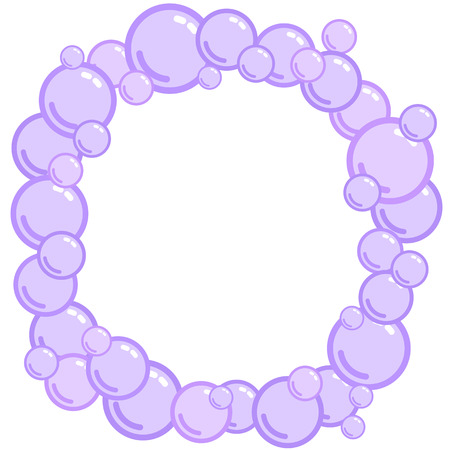 Bubble frame, place for text from blobs, soap blister bounding box, foam border, vector