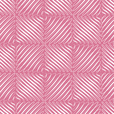 Seamless pattern with flourishes in square shape, repeated pink scroll background, universal backdrop, curl decoration elements wallpaper, vector illustration 矢量图像
