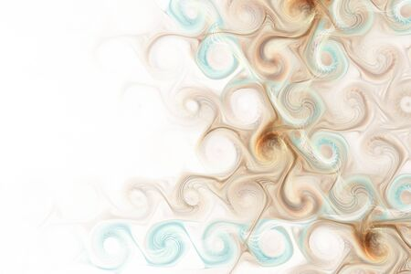 Abstract fractal gnarl spiral on white