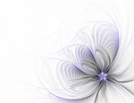 Abstract fractal flower on white