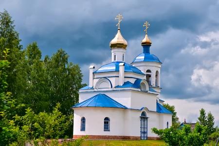 Russian church in a city Great Novgorod Stock Photo