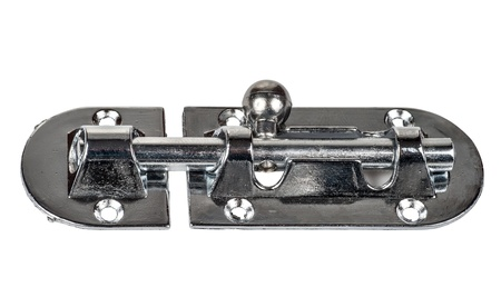 metal latch on a white background