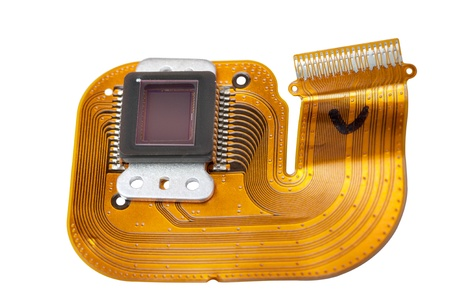 ccd: Sensor of the digital camera Stock Photo
