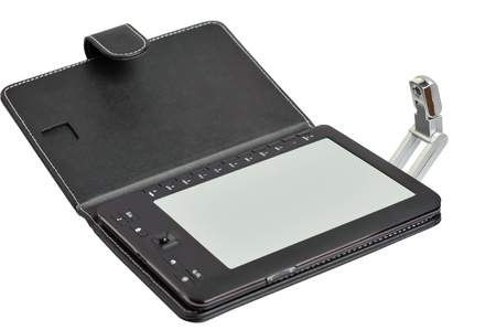 palmtop: electronic book with an illumination lamp
