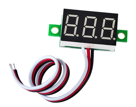 led display: the LED digital display it is isolated a nabely background