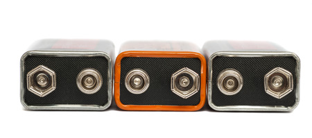 nine volt batteries it is isolated on a white background