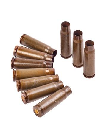 Case of a machine gun kalashnikov on a white background Stock Photo