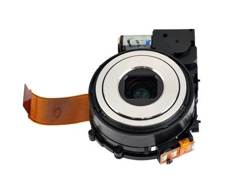 lens digital camera isolated on white background Stock Photo