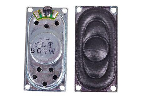 small audio speaker isolated on white background Stok Fotoğraf
