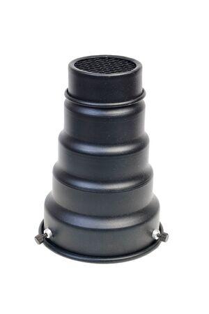 snut nozzle for studio flash isolated on white background