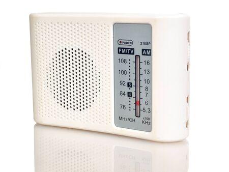 portable am, fm radio receiver isolated on white background Stok Fotoğraf