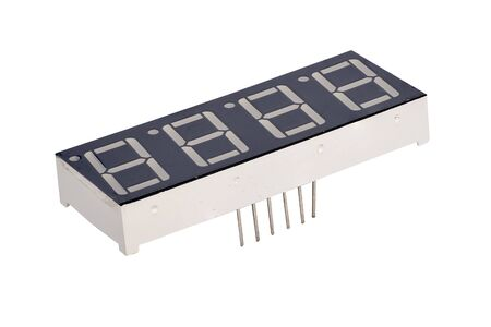 Surface mount 7-segment Binary digit on white isolated background