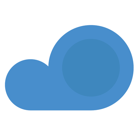 A blue cloud icon on white background. Ilustracja