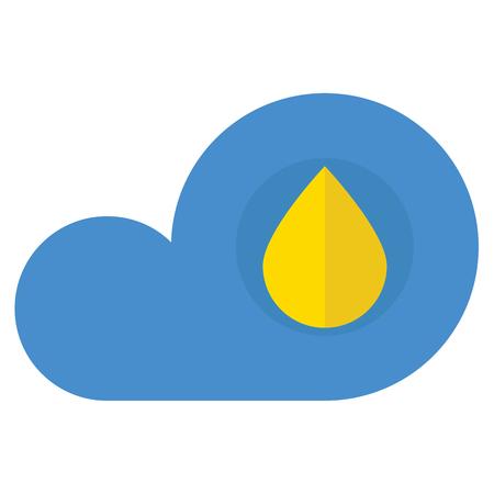 Eine Wolke mit Regen-Symbol auf weißem Hintergrund Standard-Bild - 88097332