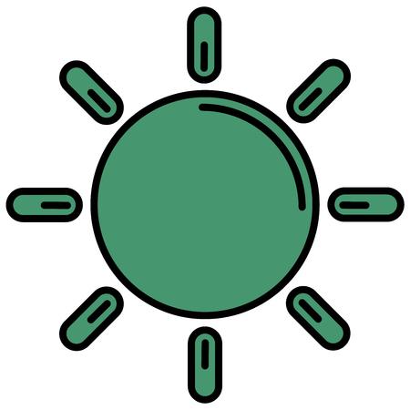 sun icon isolated on white background Ilustracja