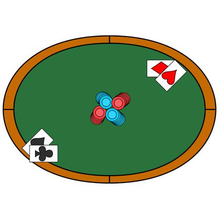 Poker vector on plain background Ilustrace