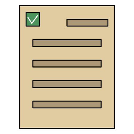 Blank paper vector on plain background Illustration
