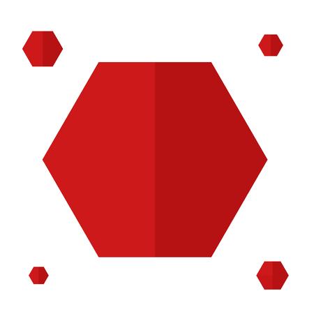 Red hexagons vector Фото со стока - 88077436
