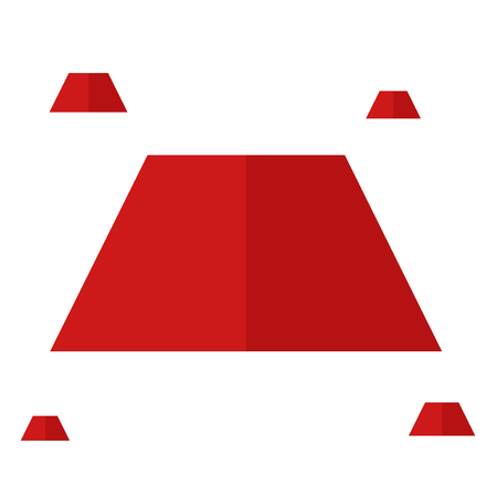 Red trapezoid vector