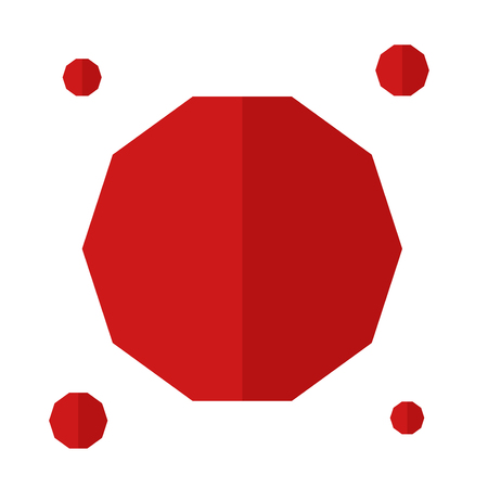 Red polygons vector