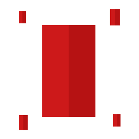 Red rectangles vector