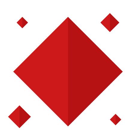 Red rhombuses vector