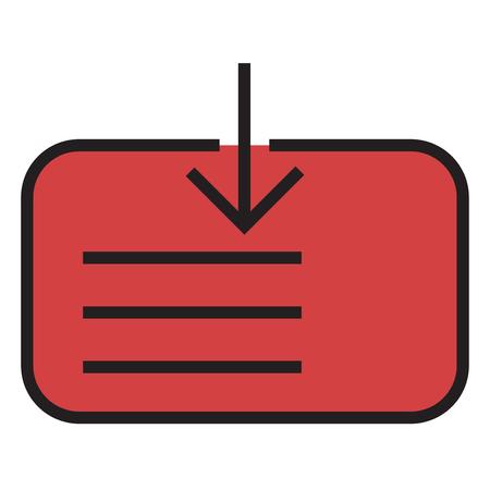 Cumulative card icon Illusztráció