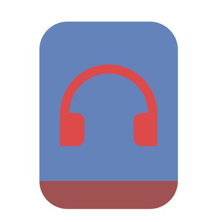 Phone with headphones icon