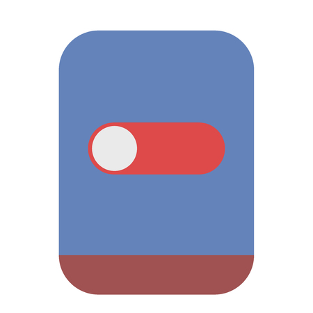 Telephone with switch icon Illustration