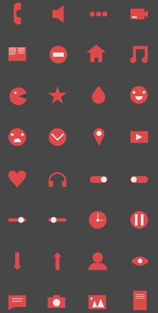 Icon set user interface. Ilustrace