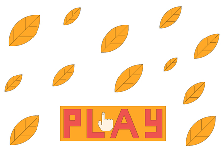 Turn on Autumn with falling leaves vector illustration.