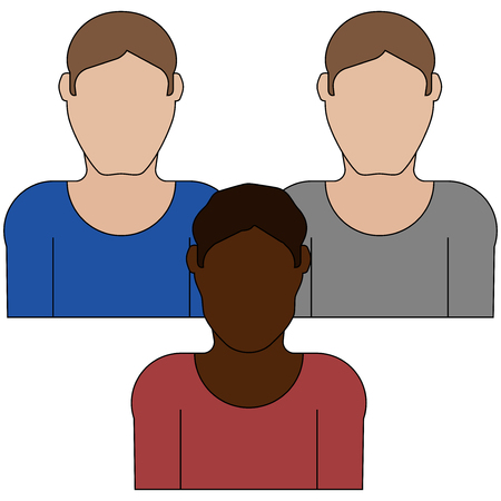 Group of male avatar icon