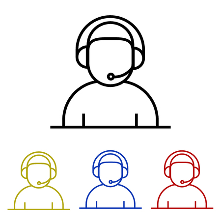 Operator line icon Illustration