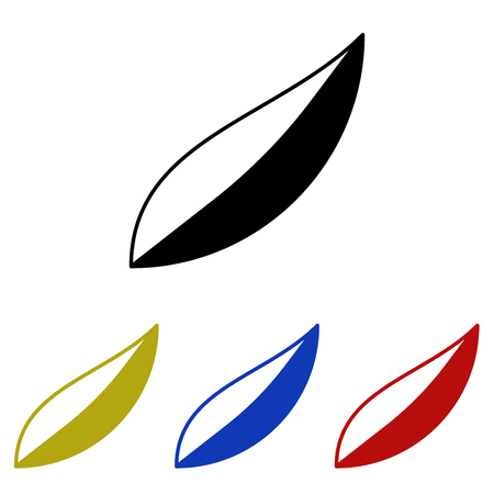 Leaves glyph icon Vector illustration.
