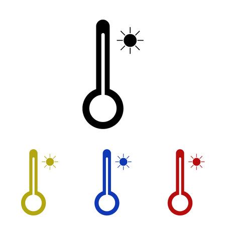 Icon Thermometer symbolizing heat