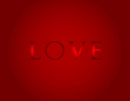 Love with a dark red gradient background