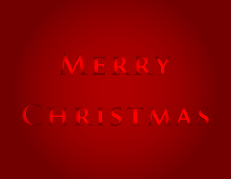 Merry Christmas with a dark red background Illustration