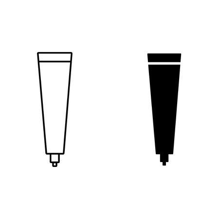 toothpaste in tube vector icon