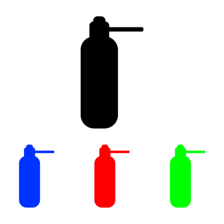 Icon line medical vial spray for the throat. vector illustration
