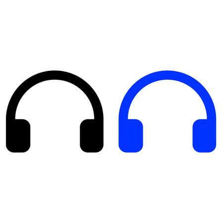 Headphones icon, vector illustration, web icon.