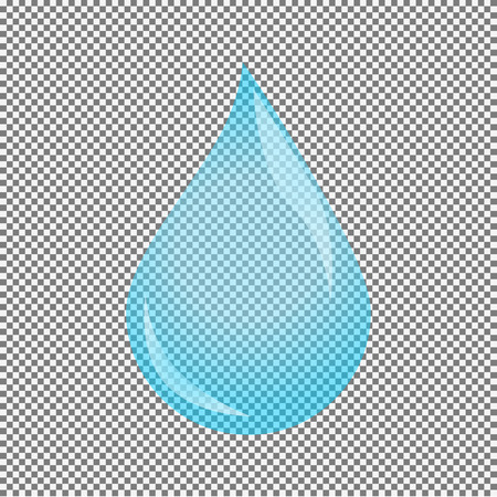 Water drop vector illustration. Isolated on white. Illustration