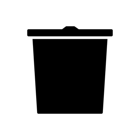 Trash bin icon. isolated icon on white background Vector illustration.